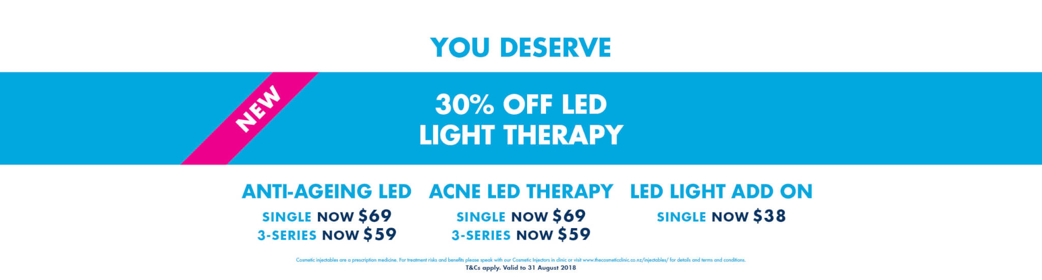 U Deserve 30% OFF LED Light Therapy