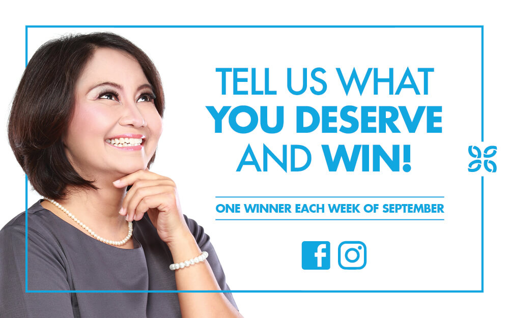 Tell us what you deserve and WIN